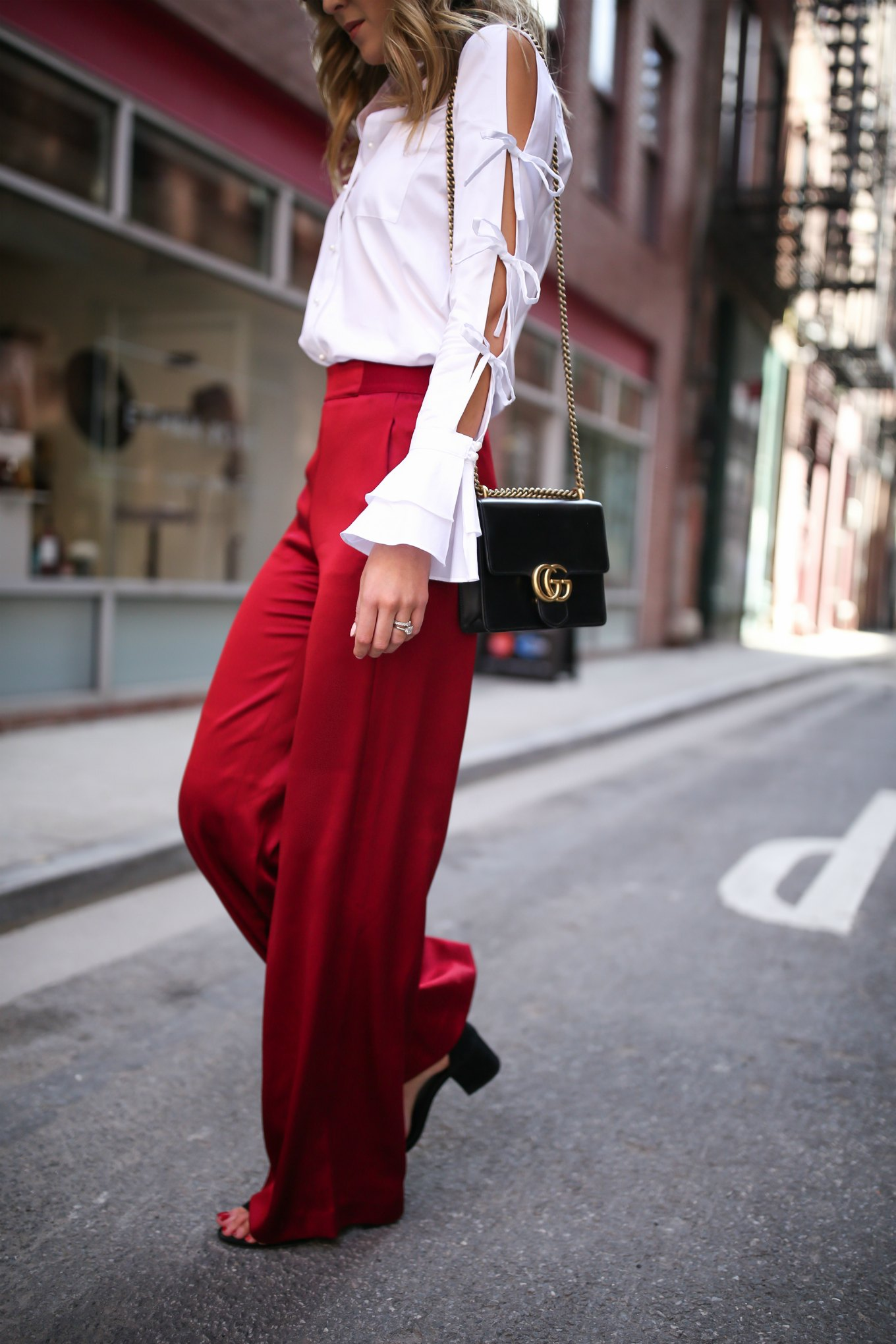 spring-summer-trends-statement-sleeves-split-ties-bell-red-satin-wide-leg-pants-alice-olivia-jonathan-simkhai-cat-eye-sunglasses10