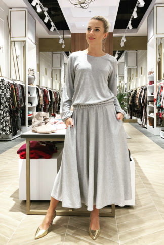 Silver Midi Dress Moelle - 350 zł